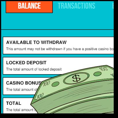 Pokie Pop Personal Account Balance Details