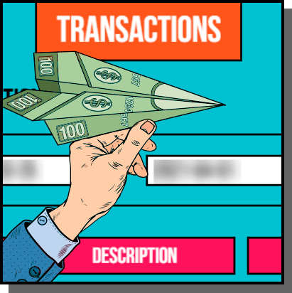 Transactions in Pokie-Pop Personal Account