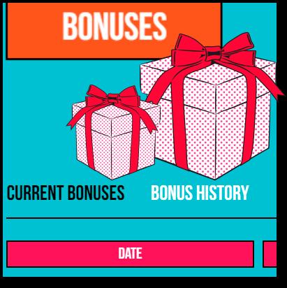 Bonus History at Pokie Pop profile